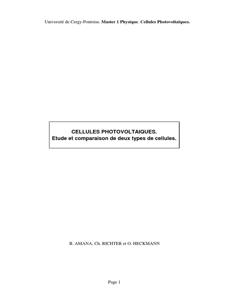 Cellule Photovoltaïque En Silicium Amorphe en ce qui concerne cellules_photovoltaiques