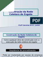 Instalação Da Rede Coletora de Esgoto Com Retroescavadeira Grupo Mega Segurança Do Trabalho