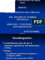 AbscesoABSCESO Y SEUDOQUISTE PANCREATICO y Seudoquiste Pancreatico