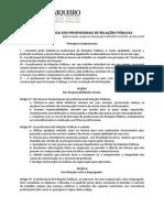 Código de Ética dos Profissionais de Relações Públicas