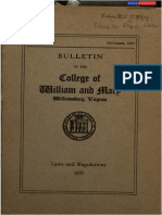 College of William & Mary Laws & Regulations 1837
