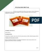 Pulpa de Durazno Pasteurizada.