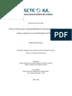 Fatores Críticos para a Sustentabilidade do Orçamento Participativo – leitura a partir do caso do Município de Odivelas