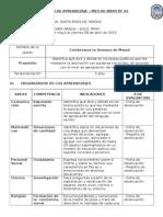 SESIONES DE APRENDIZAJE MAYO - 1° GRADO (Rutas 2015) - MINEDU -PERU