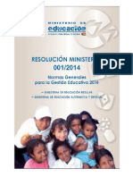 resolucion ministerial 001