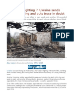 Upswing in Fighting in Ukraine Sends Civilians Fleeing and Puts Truce in Doubt