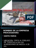 Hidrometalurgia - Planta Concentradora Santa Maria