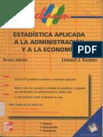 Estadística Aplicada a La Administración y La Economía - Leonard J. Kazmier-español