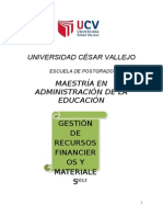 Modulo Gestion de Recursos Financieros y Materiales