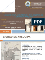 Arq Civil Colonial Arequipa
