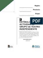 Estimulo a La Actividad de Grupo de Teatro Independiente14 12