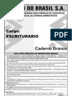 Prova para Banco do Brasil S A  - BB aplicada em 10 de Junho de 2007
