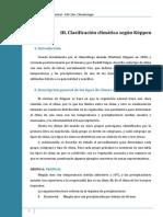 Ficha III. Clasificacion Climatica Segun Koppen