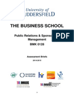 Assessment Brief - Public Relations & Sponsorship Management BMK0128