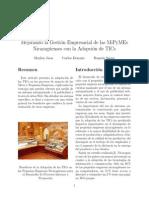Mejorando La Gesti´n Empresarial de Las MiPyMEs