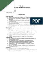 ed 321 unit plan feedback