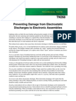 Preventing Damage From Electrostatic Discharges to Electronic Assemblies