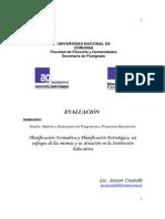 Planificacion Normativa y Estrategica, Un Enfoque en La Institucion Educativa