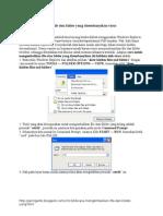 Cara Mengembalikan File Dan Folder Yang Disembunyikan Virus