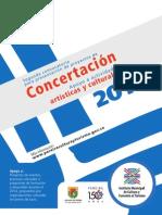 Manual Convocatoria de Concertacion 2014