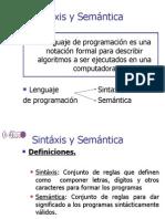 Sintaxis y Semantica