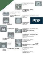 Price List Plumbing Fixtures