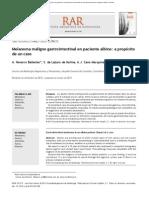 Melanoma maligno gastrointestinal en paciente albino