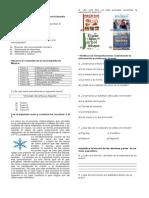 EXAMEN DEL BLOQUE IV ESPAÑOL y MATEMATICAS 4°.