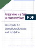 Consideraciones en el Diseño de Plantas Farmacéuticas