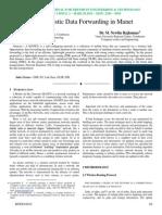 Opportunistic Data Forwarding in Manet