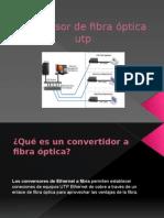 Conversor de Fibra Óptica Utp