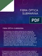 Fibra óptica submarina