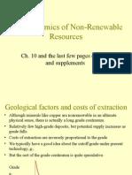 1 Non-renewable Resources