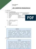 Esquema de Carpeta Pedagogica 2015