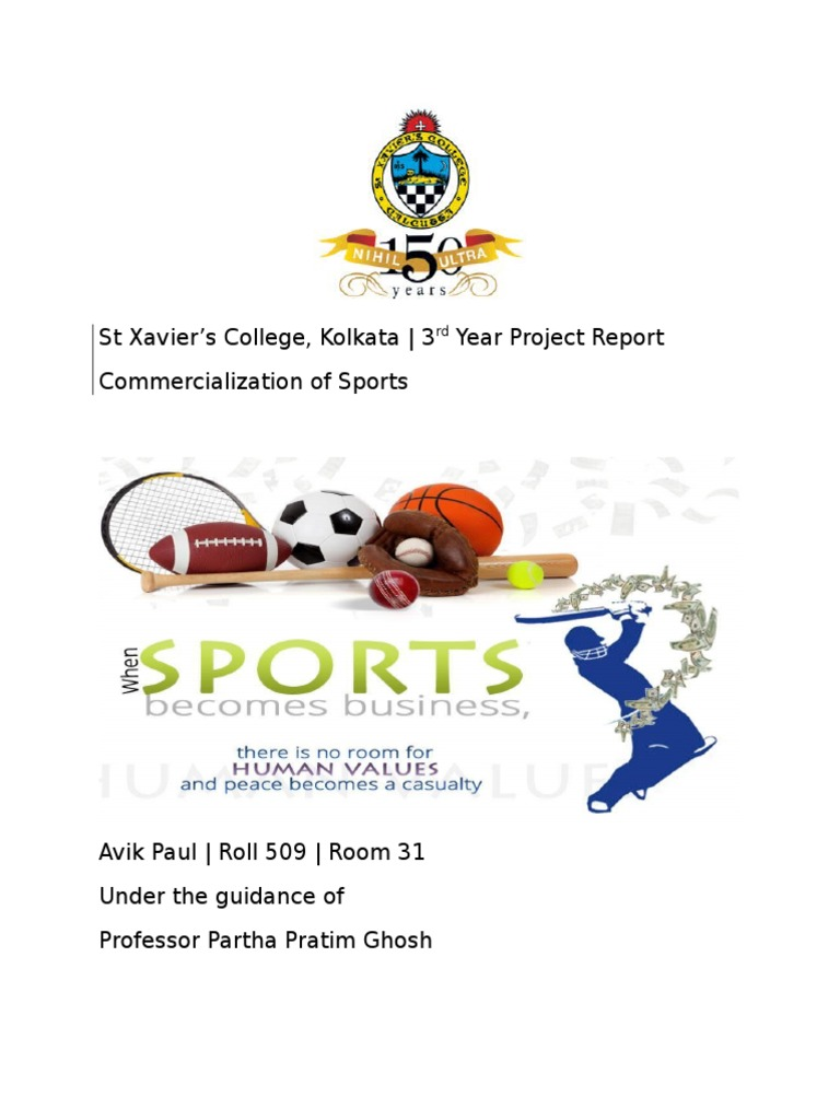 Project on commercialisation of sportscx referee sports biocorpaavc Image collections