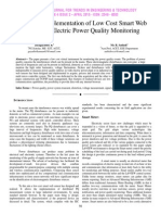 Design and Implementation of Low Cost Smart Web Sensors for Electric Power Quality Monitoring