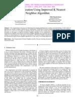 Text Categorization Using Improved K Nearest Neighbor Algorithm