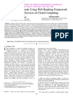 Service Level Grade Using Web Ranking Framework for Web Services in Cloud Computing