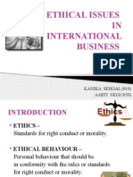 Ethical Issues in Ib
