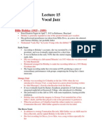 Lecture 15 (Vocal Jazz)