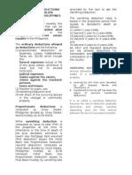 Tax- Estate Tax Adeductions