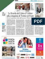 La Scuola del Libro di Urbino alla conquista dell'Expo - Il Resto del Carlino del 1 maggio 2015