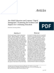 Are Adult Educators and Learners Digital Immigrants