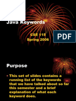 Java Keywords