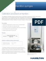 Syringe Calibration Information