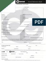 Demand Draft Application Form