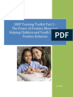 Inclusion Tool Kit Part 2 Power of Positive Messages Helping Children and Youth Develop Positive Behavior