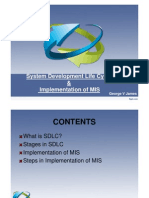 SDLC & implementation of mis