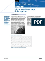 Solutions to voltage sags and interruptions