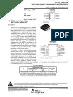 [TI] SINGLE P-CHANNEL ENHANCEMENT-MODE MOSFETS.PDF